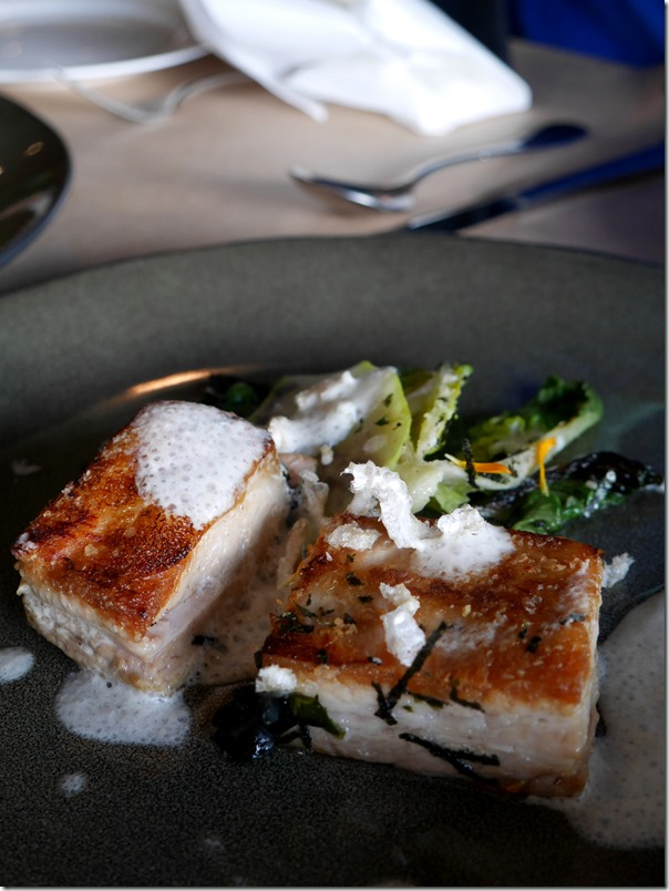 Pork belly, scorched coz, pear, buttermilk $39