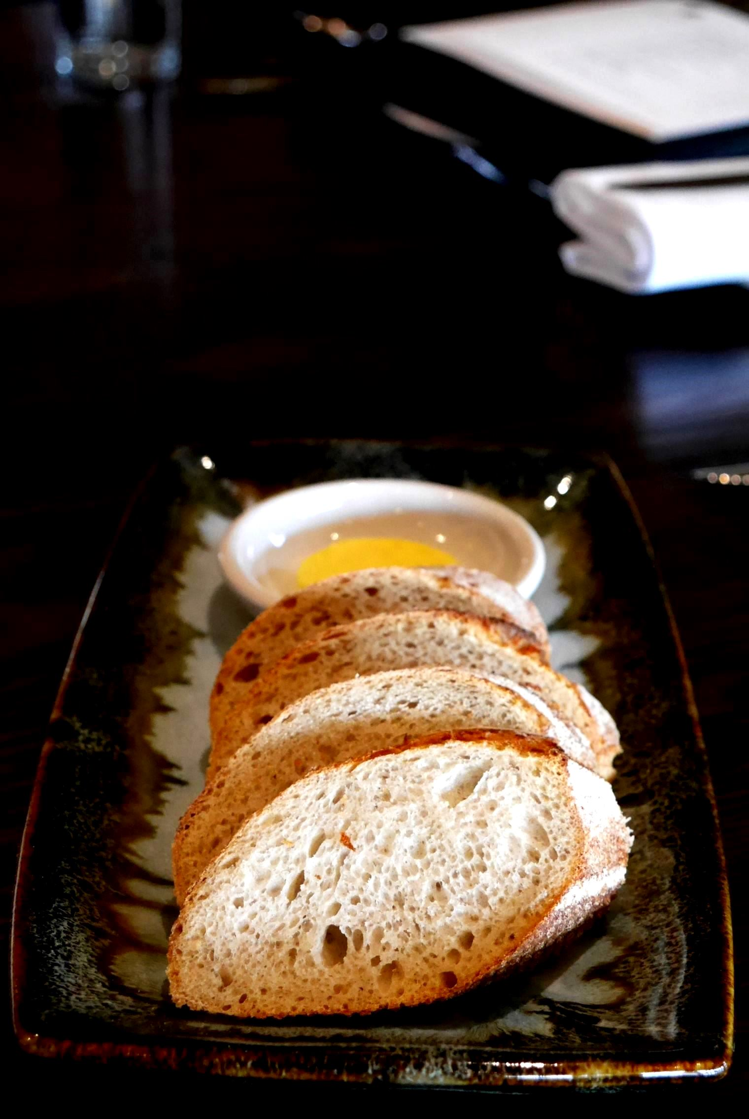 Sourdough and olive oil