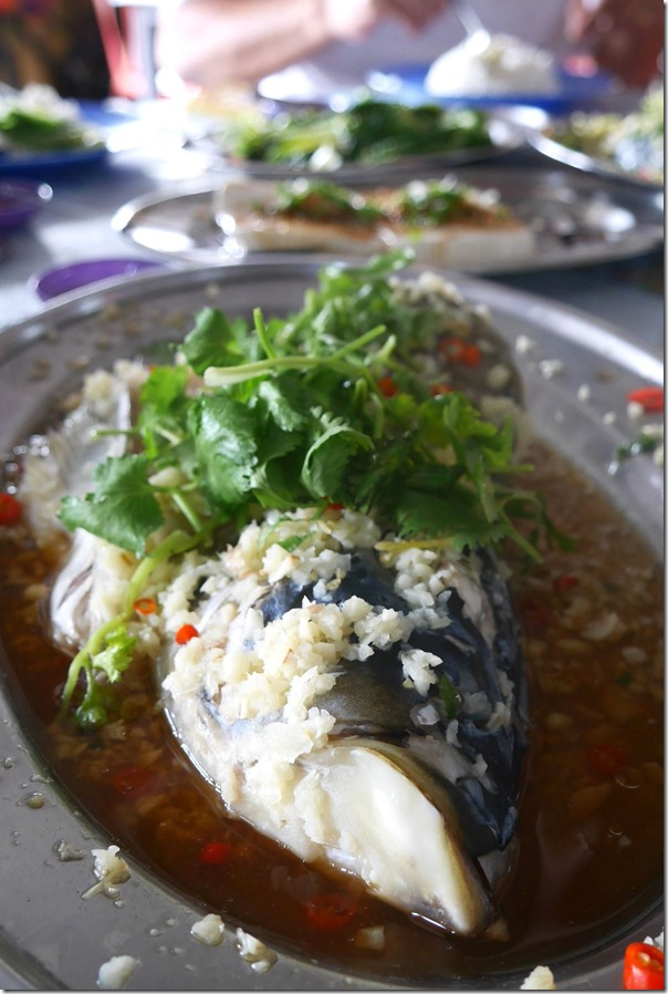 Steamed fish head with garlic and special soy sauce RM29 / A$8.80