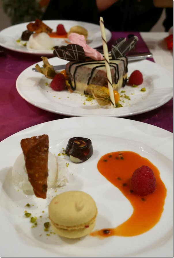 Dessert and special Valentine's Day sweet platter