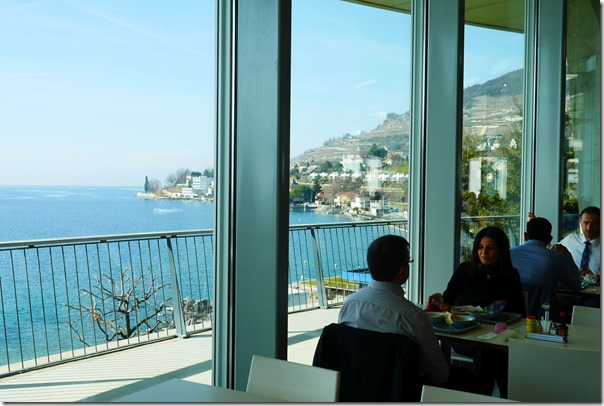View of Lake Geneva from Nestlé staff canteen