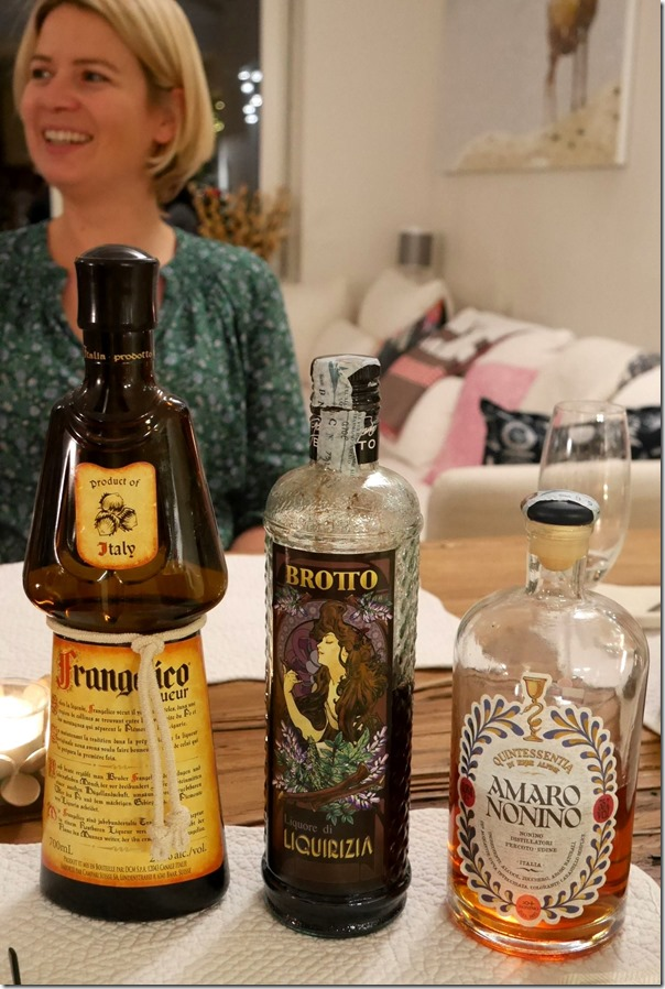 Selection of after dinner liqueurs
