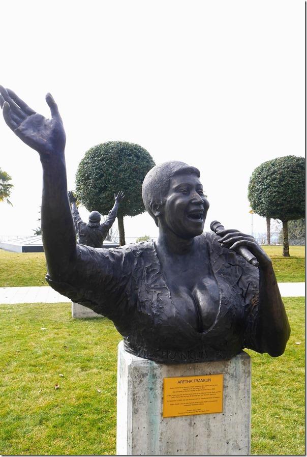 Bust of Aretha Franklin