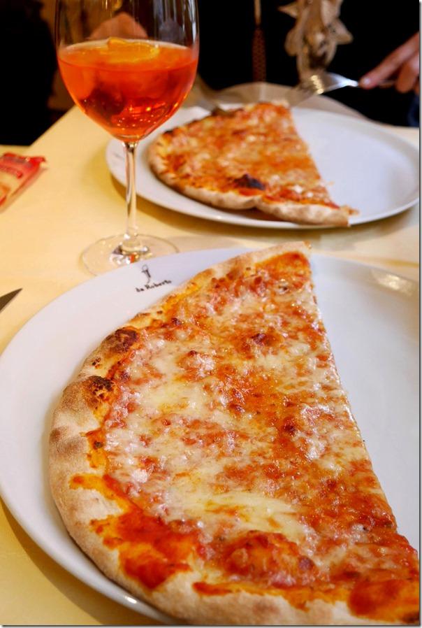 Margherita pizza Euro$9 / A$12.60