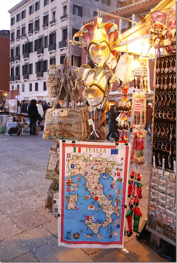 Carnevale di Venezia - a map of Italy
