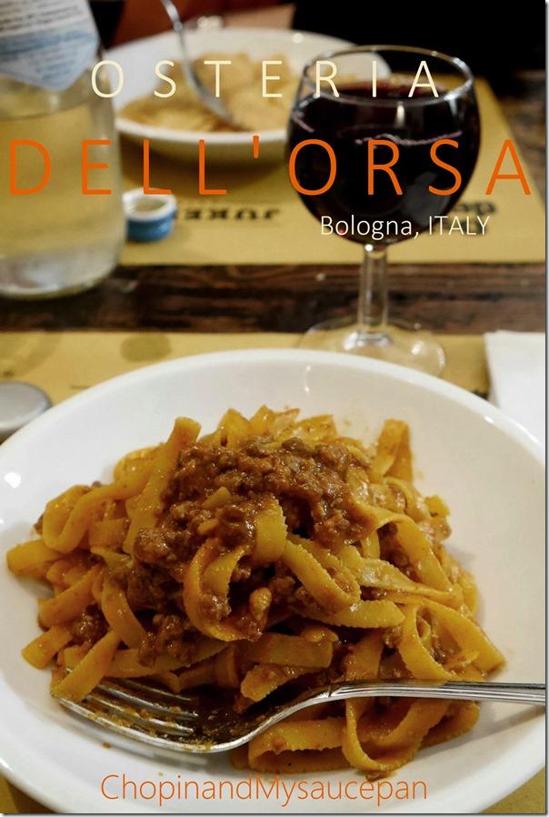 Osteria Dell'Orsa, Bologna, Italy