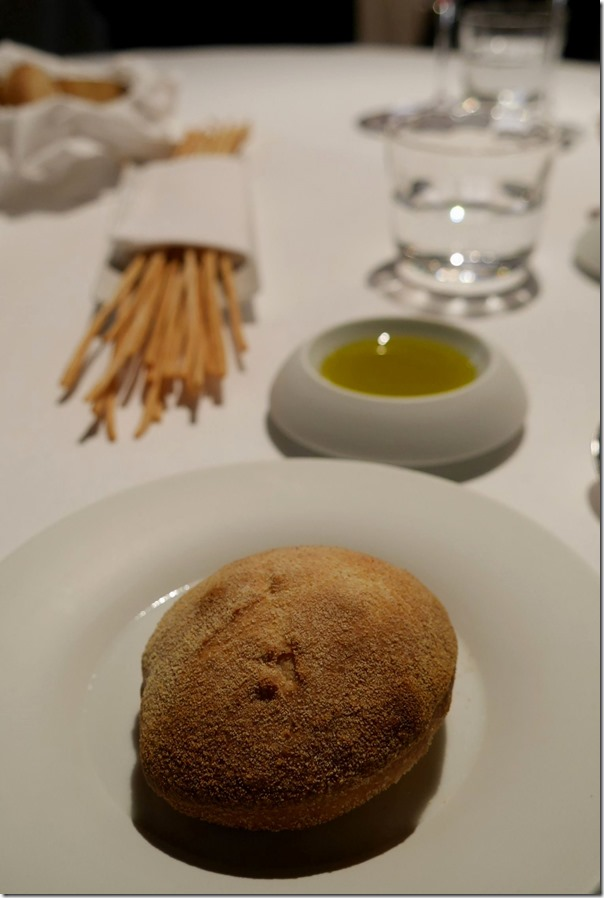 Warm bread and olive oil