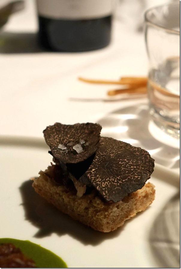 Black truffle shavings on bread