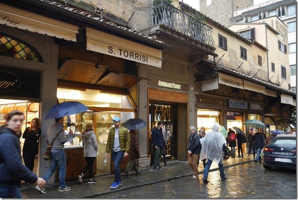 Shops along Borgo S. Jacopo at Ponte Vecchio