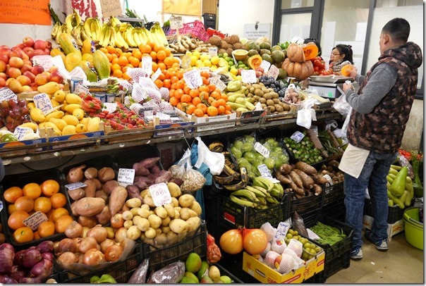 Fresh vegetables at a green grocer