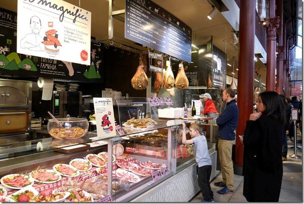 Antipasto food counter, Il Mercato Centrale, Firenze