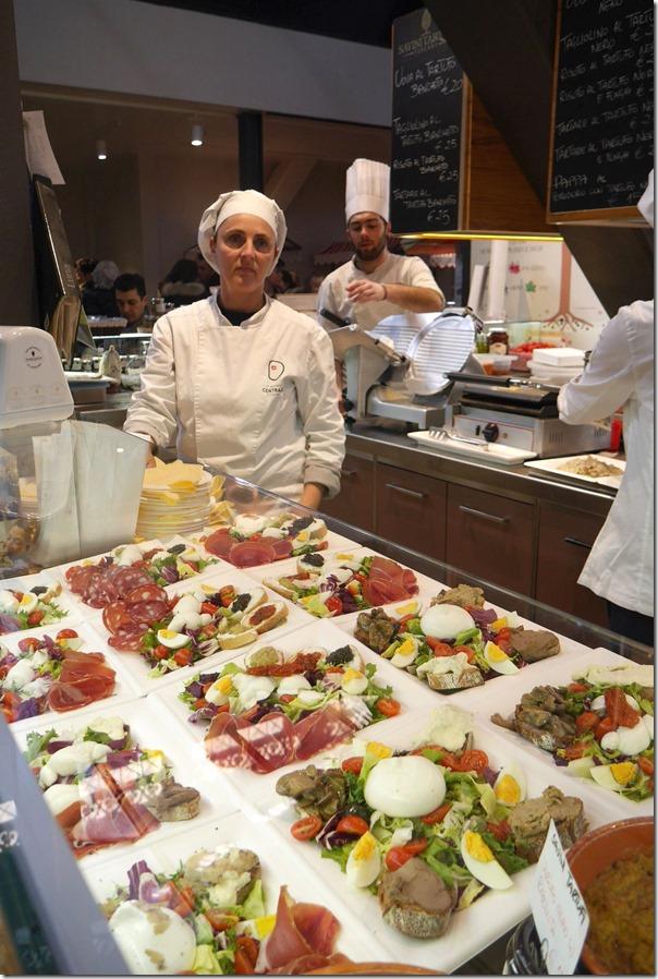 Salad bar, Il Mercato Centrale, Firenze