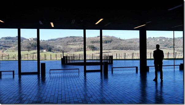 Panoramic view of vineyards at Antinori Nel Chianti Classico