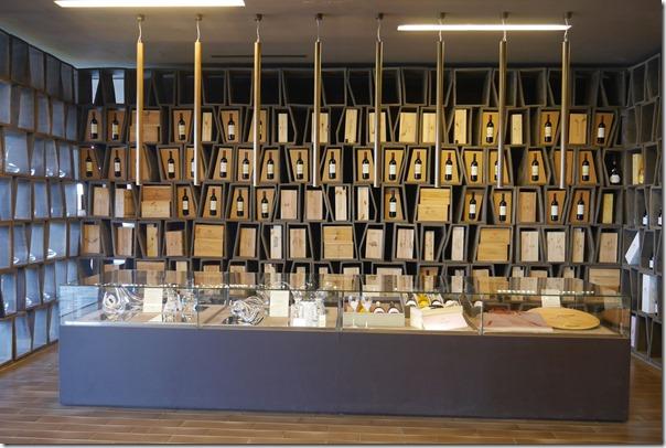 Wine on display at the tasting room