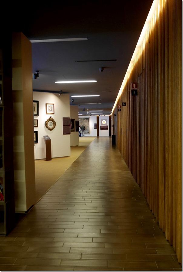 Corridor leading to the Antinori wine museam