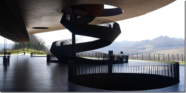 Outdoor terrace at Antinori winery