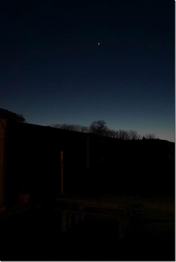 Montepulciano at dusk in winter