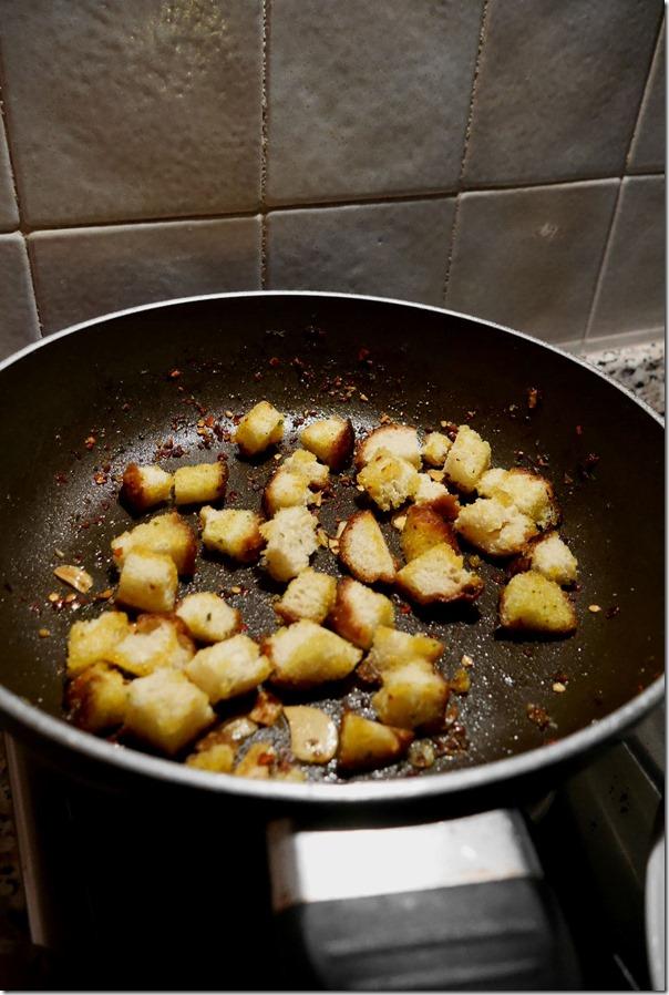 Toasting bread crumbs
