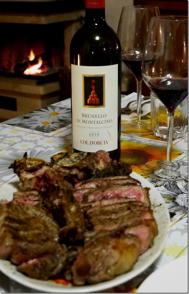Bistecca Fiorentina with a Brunello di Montalcino