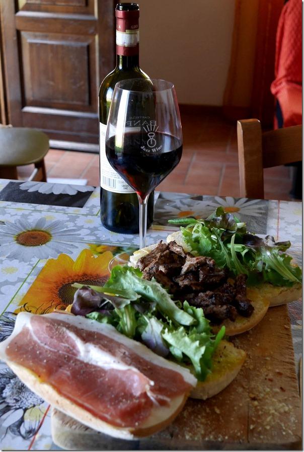 Steak sandwich and prosciutto sandwich