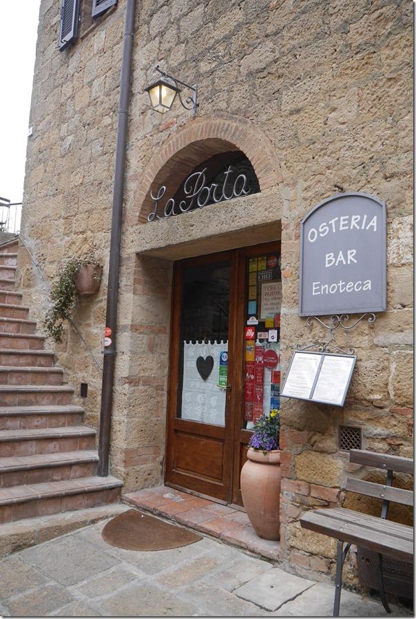 Osteria La Porta in Pienza, Tuscany
