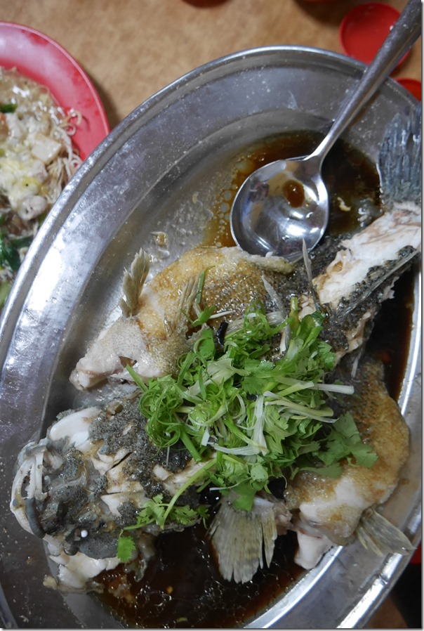 Steamed soon hock fish or marble goby RM250 / A$80