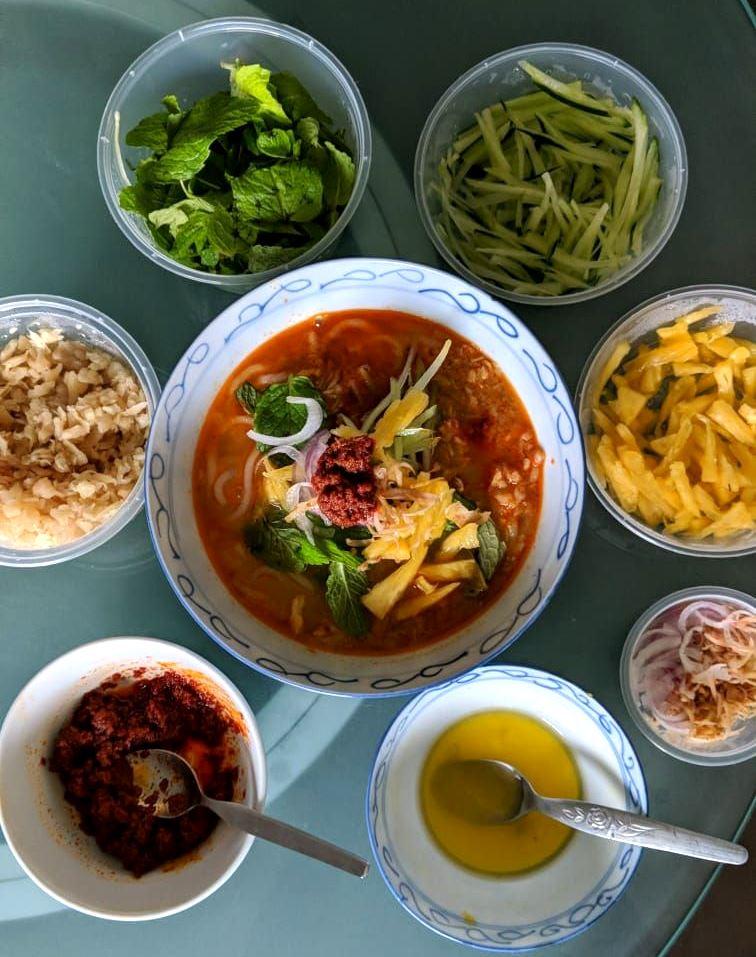 Home made Thai style laksa