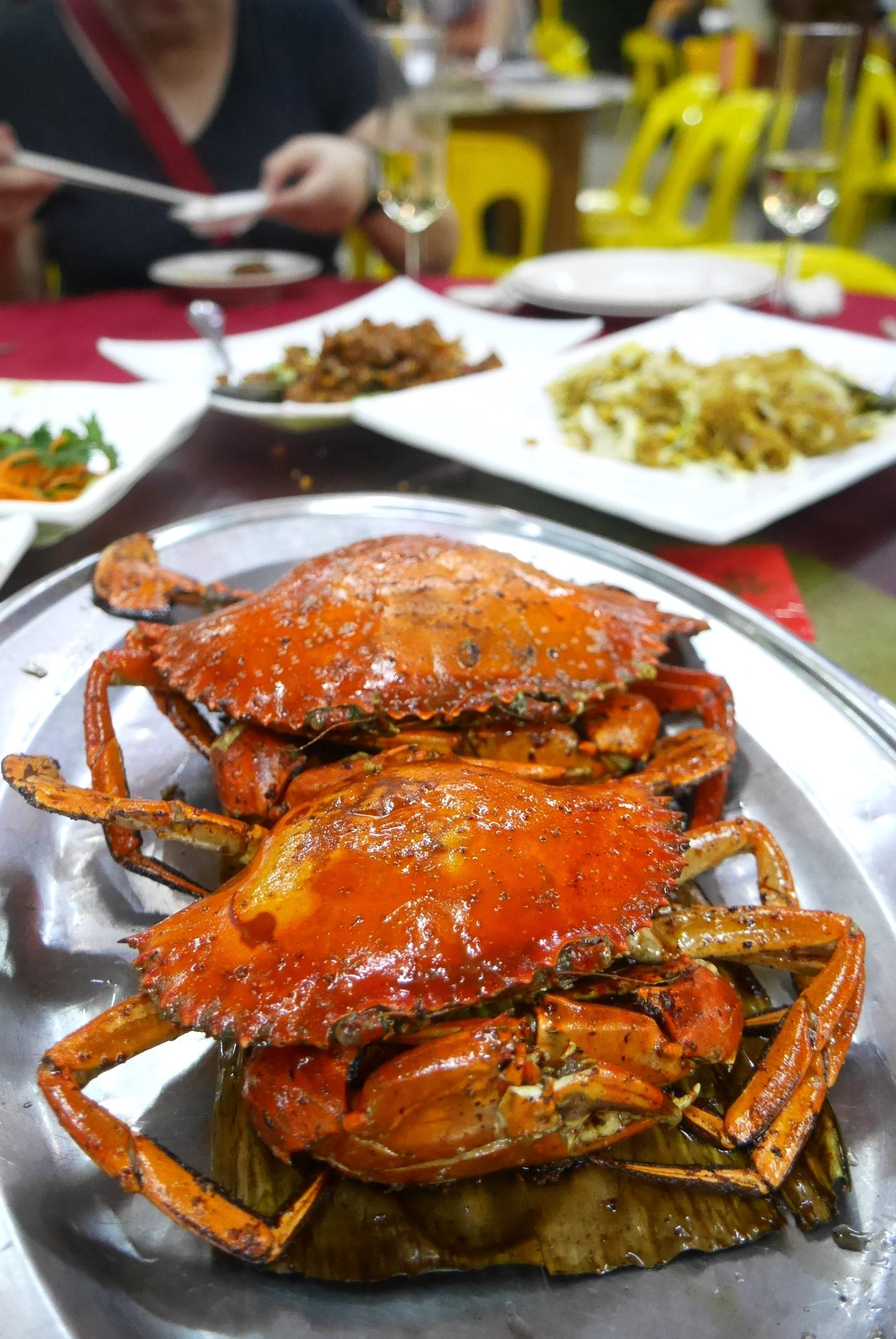 Grilled salt and pepper crab