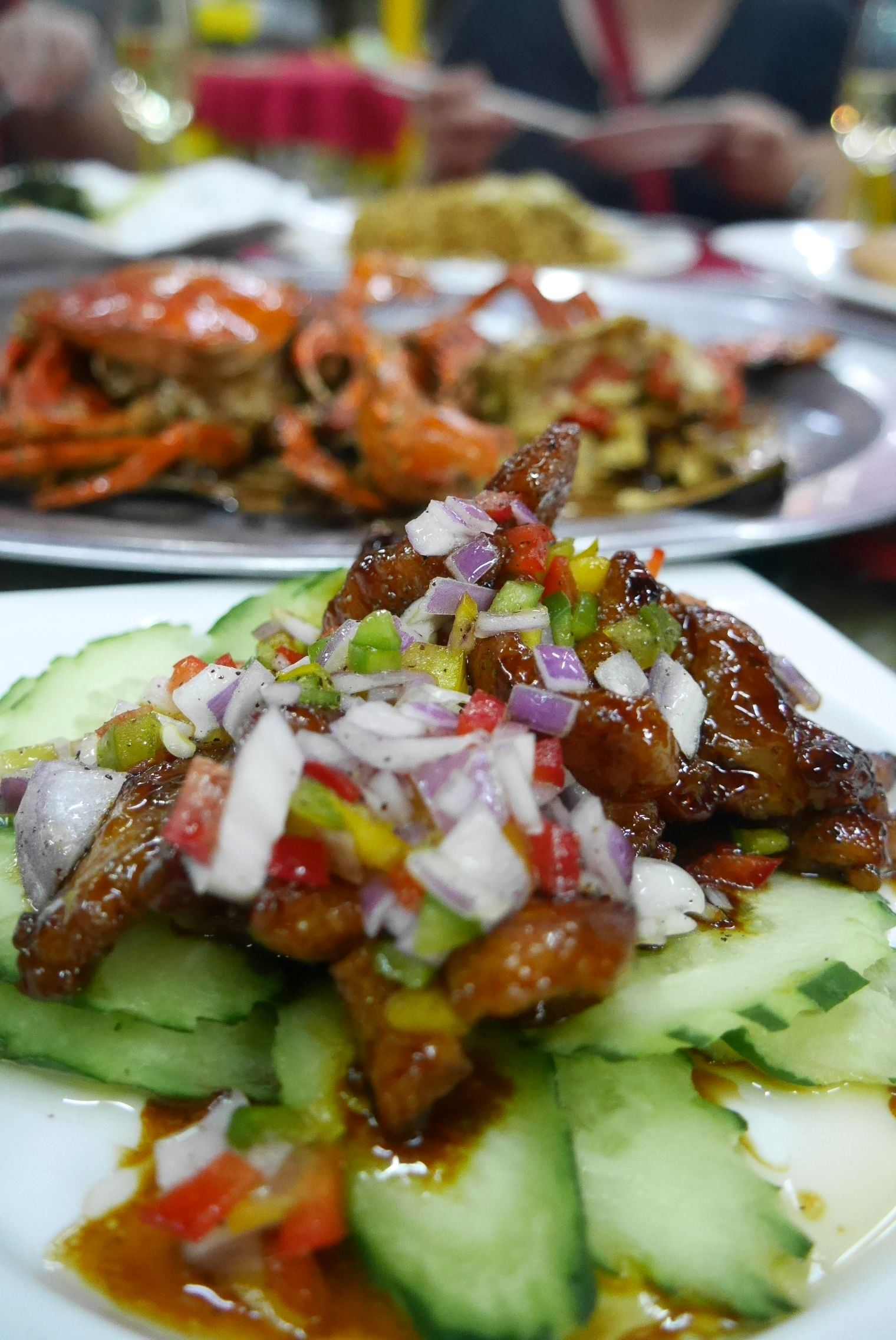 Pork two-ways - 2. Stir-fried pork strips with savoury sour plum sauce