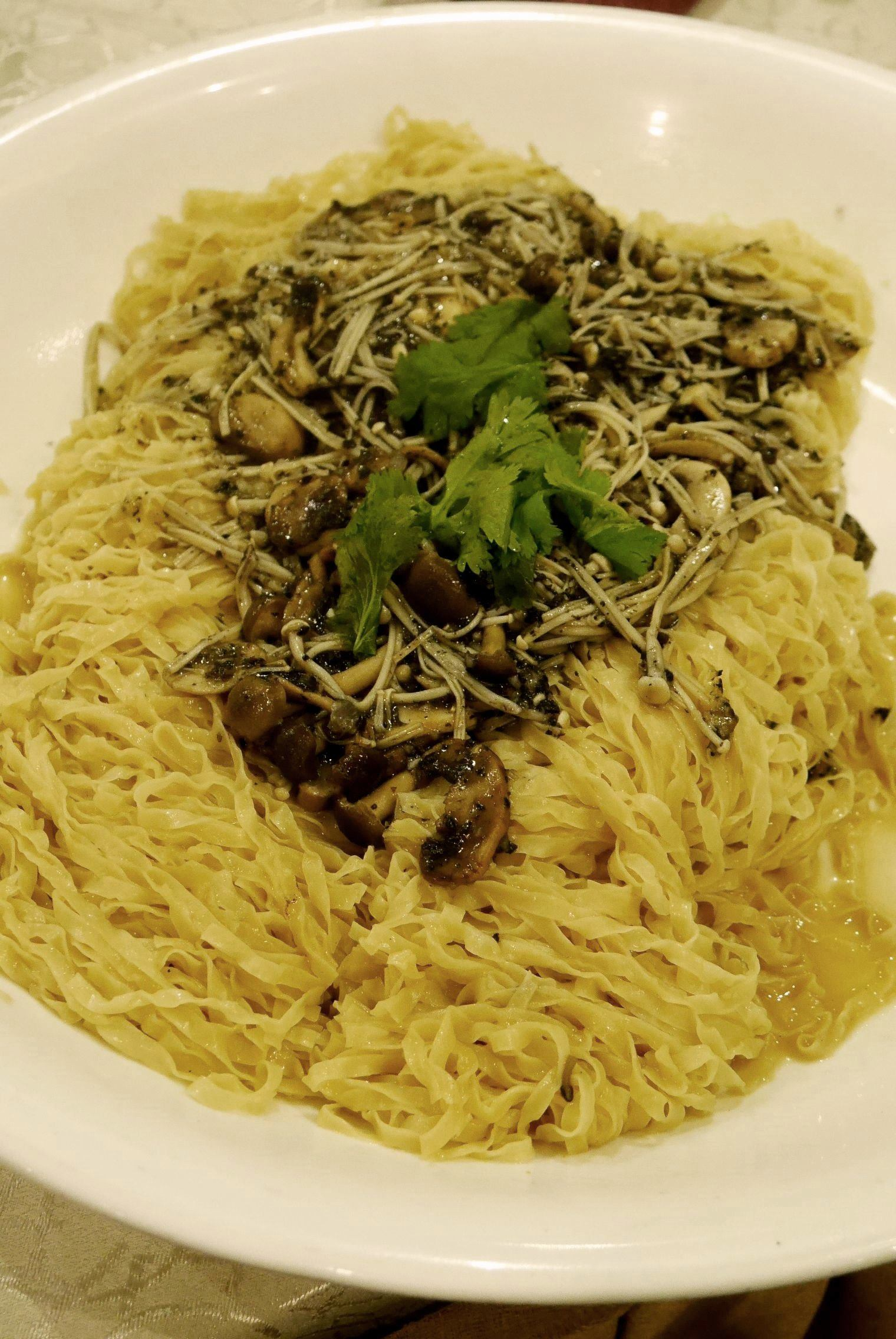 Braised noodle with mushrooms and black truffle RM252 / A$84