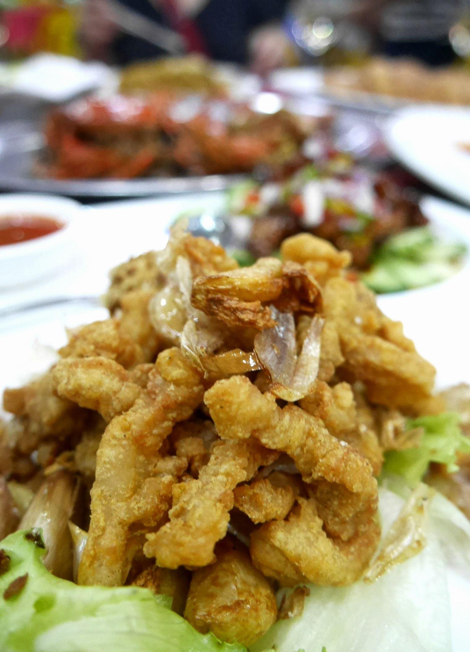 Pork two-ways - 1. Crispy deep-fried strips