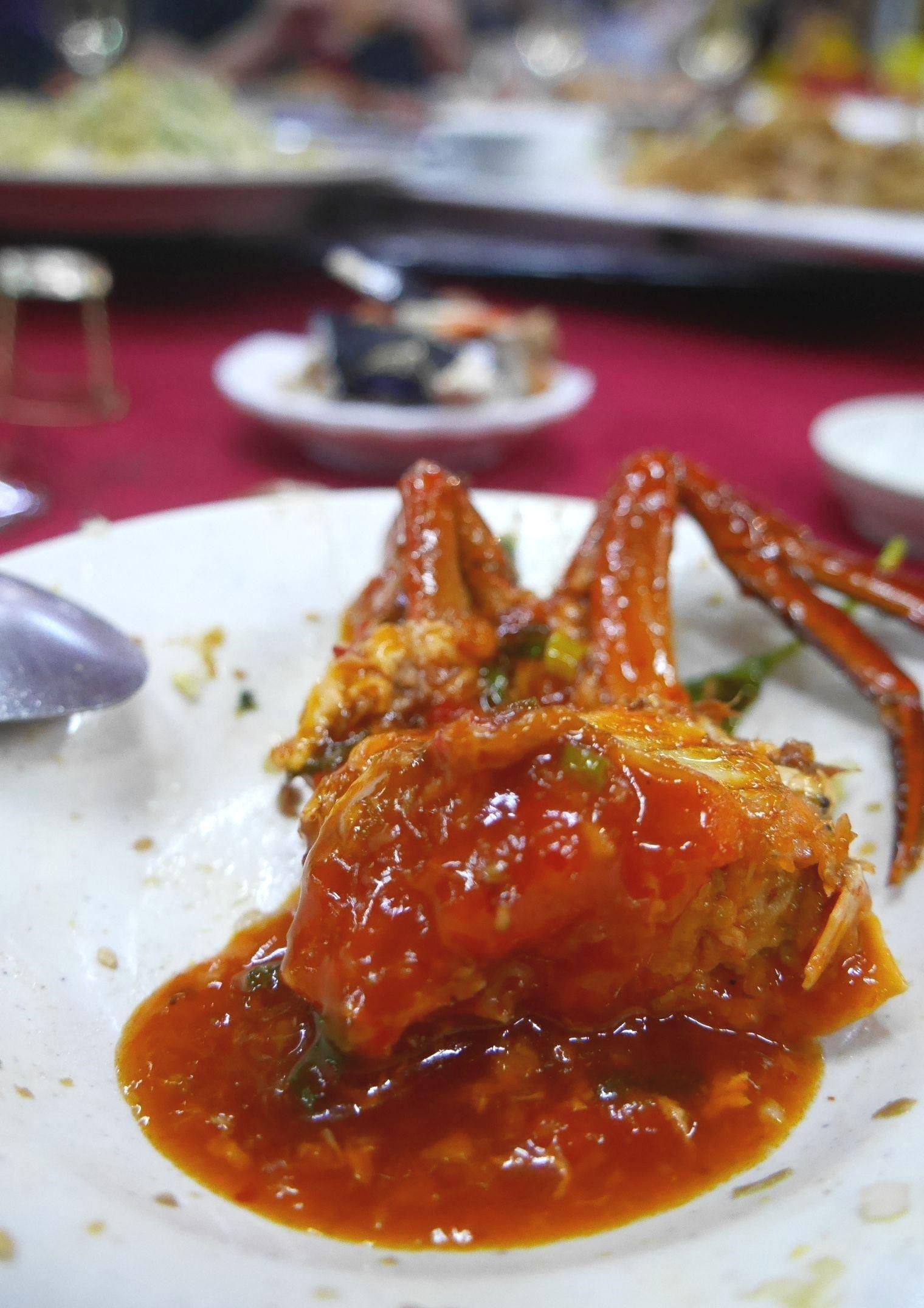 Malaysian style chilli crab