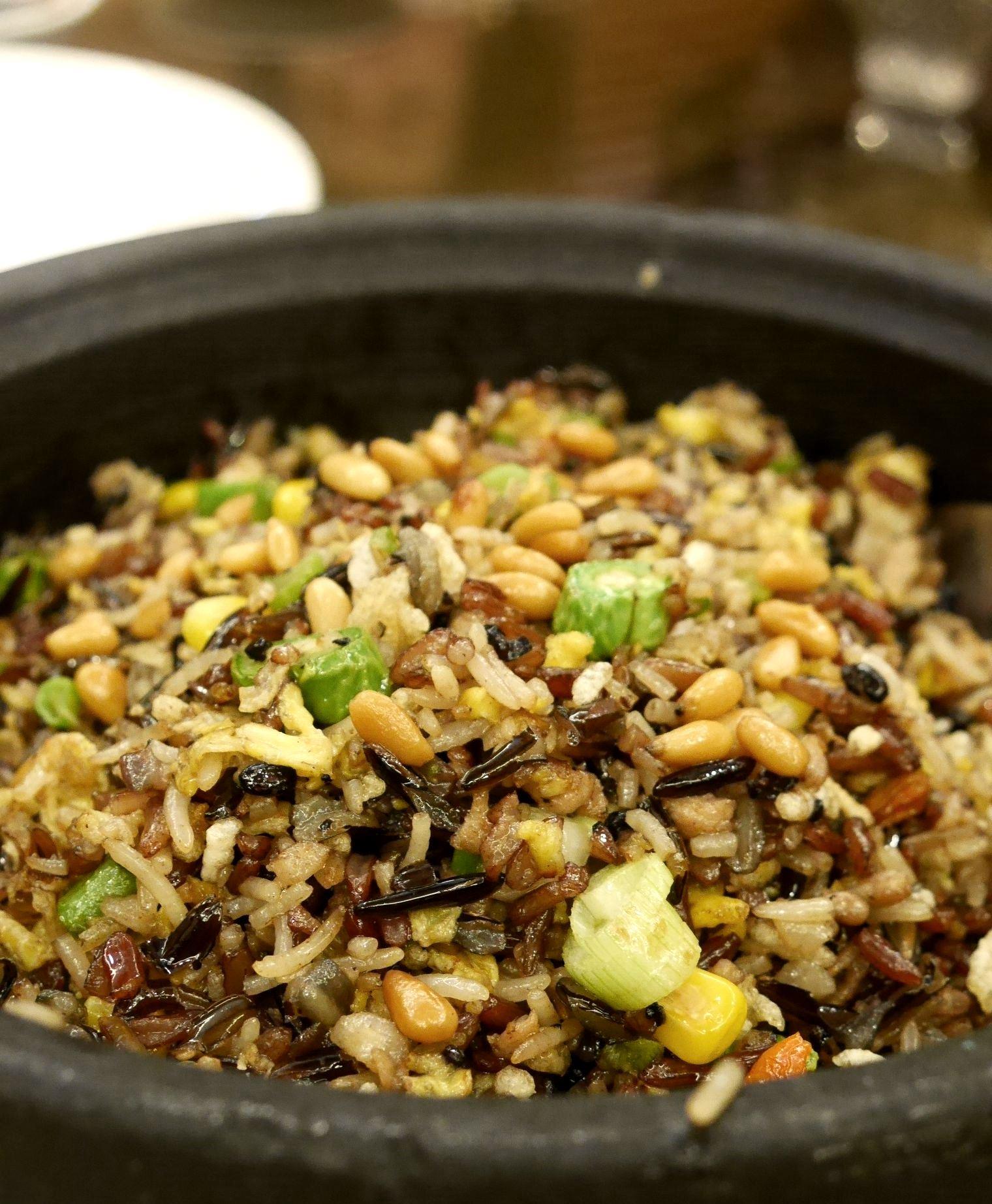 Fried five grain rice RM70 / A$23