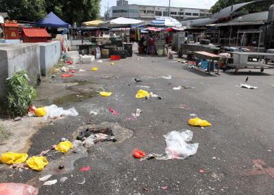 Food rubbish in SS2 Petaling Jaya, Malaysia