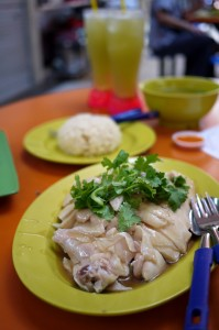 Tian Tian's chicken rice at Maxwell Food Centre, Singapore